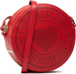 Czerwona torebka Love Moschino średnia matowa