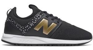 Granatowe buty sportowe New Balance w młodzieżowym stylu z płaską podeszwą