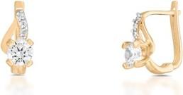 Kolczyki złote W.KRUK ZNN/KC133BK