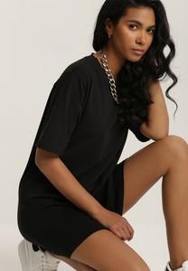 Bluzka Renee w stylu casual z krótkim rękawem z okrągłym dekoltem