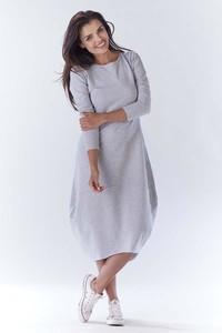 Sukienka Awama sportowa w stylu casual z długim rękawem