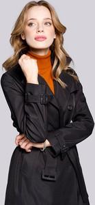 Czarna kurtka Wittchen w stylu casual długa