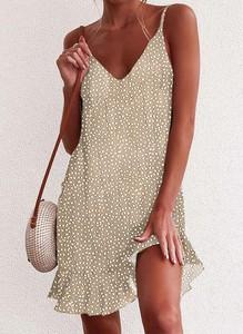 Sukienka Cikelly w stylu casual na ramiączkach z dekoltem w kształcie litery v