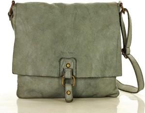 Zielona torebka Marco Mazzini Handmade średnia matowa w stylu casual