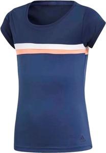 Granatowa koszulka dziecięca Adidas z krótkim rękawem dla dziewczynek
