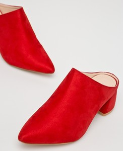 Czerwone klapki Answear