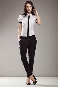 Czarne spodnie NIFE z bawełny
