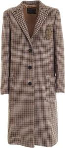 Brązowy płaszcz Dondup