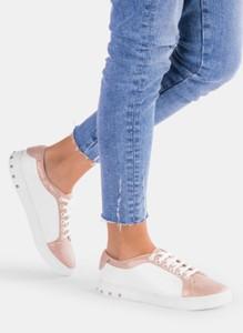 Deezee biało różowe buty sportowe hayden
