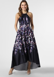 Granatowa sukienka VM bez rękawów maxi z dekoltem halter