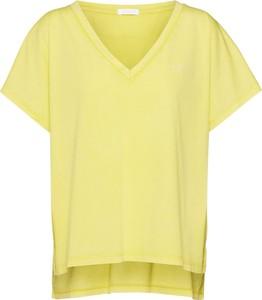 Żółta bluzka Drykorn z krótkim rękawem z dżerseju