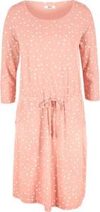 Różowa sukienka bonprix z dżerseju