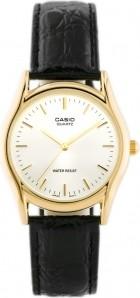 ZEGAREK MĘSKI CASIO MTP-1094Q 7A Czarny   Złoty