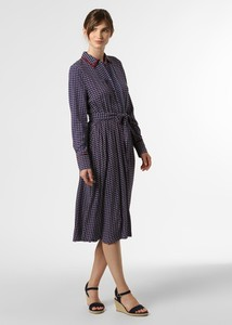 Granatowa sukienka Tommy Hilfiger z długim rękawem