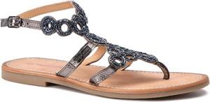 Czarne sandały Les Tropeziennes w stylu casual