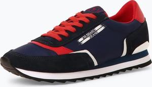 Niebieskie buty sportowe Trussadi Jeans sznurowane