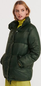 Turkusowa kurtka Reserved krótka w stylu casual