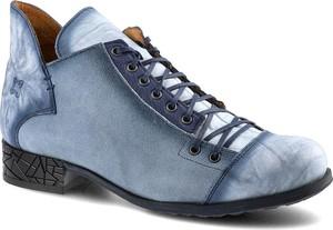 Niebieskie botki Maciejka w stylu casual