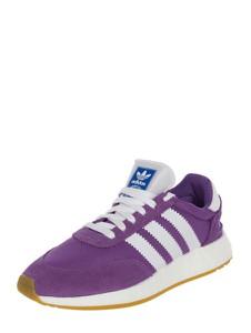 Fioletowe buty sportowe Adidas Originals z płaską podeszwą sznurowane