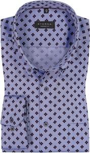Niebieska koszula Eterna z kołnierzykiem button down z bawełny