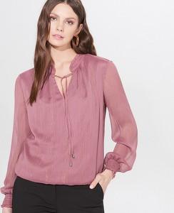 Fioletowa bluzka Mohito z długim rękawem