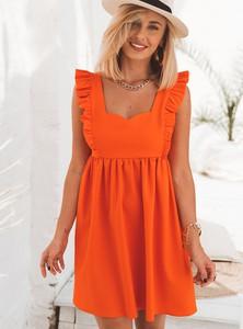 Pomarańczowa sukienka SELFIEROOM mini