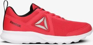 Czerwone buty sportowe Reebok w sportowym stylu sznurowane