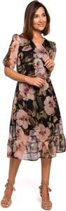 Sukienka Merg z szyfonu midi