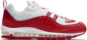 Czerwone buty sportowe Nike ze skóry sznurowane
