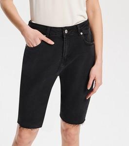 Czarne szorty Reserved z jeansu