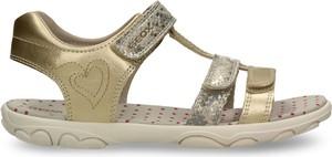 Buty dziecięce letnie Geox ze skóry na rzepy