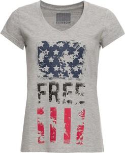 T-shirt bonprix RAINBOW z krótkim rękawem w młodzieżowym stylu
