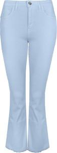 """Niebieskie spodnie Pinko Spodnie """"pollon"""" w stylu retro"""