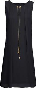 Czarna sukienka bonprix BODYFLIRT boutique bez rękawów midi
