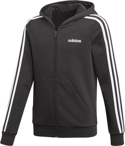 Czarna bluza dziecięca Adidas w paseczki z dzianiny