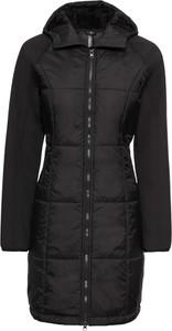 Czarny płaszcz bonprix RAINBOW długa w stylu casual