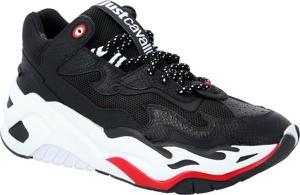 Just Cavalli Skórzane sneakersy