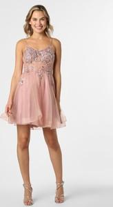Różowa sukienka Laona rozkloszowana bez rękawów