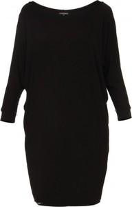 Czarna sukienka Yuliya Babich z długim rękawem mini