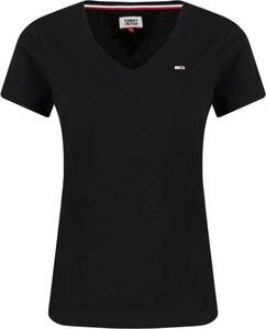 T-shirt Tommy Jeans w stylu casual z dżerseju