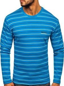 Niebieska koszulka z długim rękawem Denley z długim rękawem