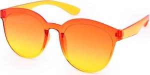 Dedra Tęczowe okulary przeciwsłoneczne, 100% ochrona UV pomarańczowe, UV400
