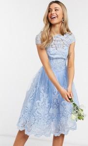 Niebieska sukienka Chi Chi London