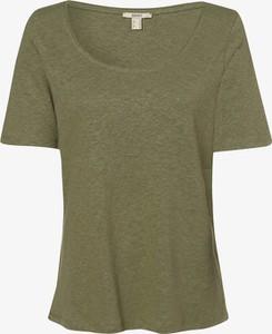 Zielony t-shirt Esprit w stylu casual z dżerseju z okrągłym dekoltem