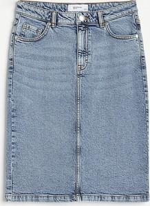 Niebieska spódnica Reserved z jeansu w stylu casual mini