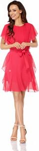 Sukienka Lemoniade z okrągłym dekoltem mini rozkloszowana