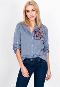 de369207128b64 koszula niebieska w kratke - stylowo i modnie z Allani