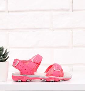 Różowe buty dziecięce letnie Yourshoes na rzepy