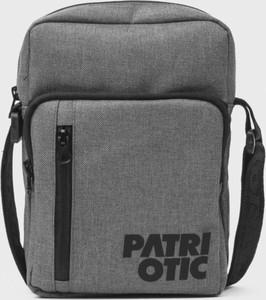 Brązowa torebka Patriotic średnia w stylu casual na ramię