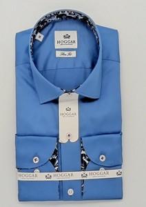 Niebieska koszula sempre z klasycznym kołnierzykiem z długim rękawem z bawełny